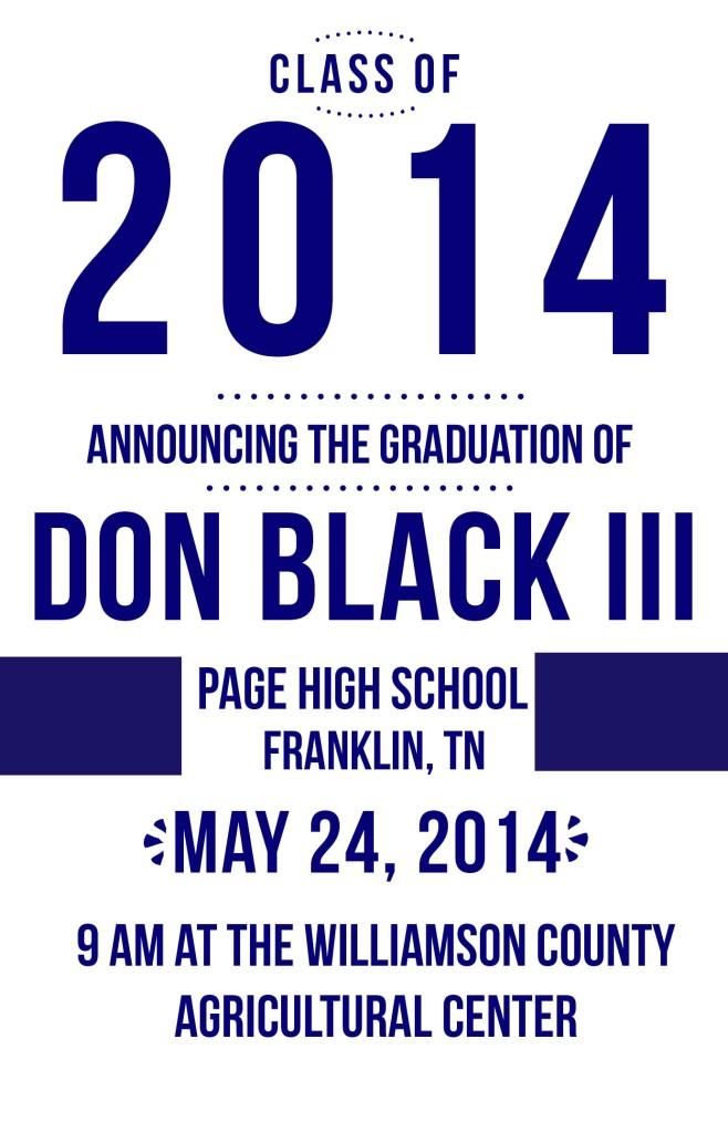 Don Grad Announcement
