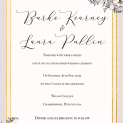 Laura Wedding INvite