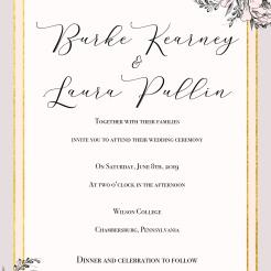 Laura Wedding INvite